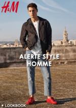 Catalogues et collections H&M : Lookbook homme Alerte style
