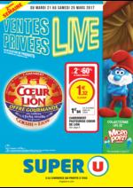 Prospectus Super U : Ventes privées live 2ème semaine