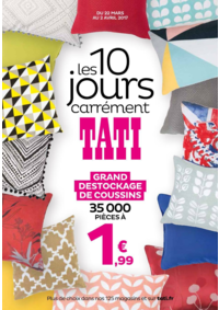 Prospectus Tati PARIS 76 avenue de Clichy : Les 10 jours carrément TATI