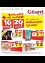 Prospectus Géant Casino : + j'achète + j'économise