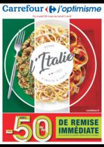 Prospectus Carrefour : Quand l'Italie s'invite à table