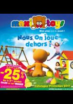 Prospectus Maxi Toys : Nous, on ,joue dehors !