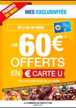 Promos et remises  : + de 60€ offerts en € carte U