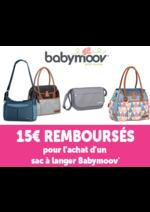 Promos et remises  : 15 € remboursé pour l'achat d'un sac à langer Babymoov