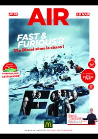 Journaux et magazines McDonald's - PARIS 9 : Air le Mag du mois de Avril 2017
