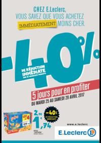Prospectus E.Leclerc FRANCONVILLE : -40% de réduction immédiate