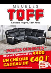 Prospectus Meubles Toff : Recevez par achat de 400€ un chèque cadeau de 40€