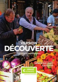 Catalogues et collections Verdié Voyages Paris 16 : Brochure Version découverte : départs Sud-Ouest et Auvergne
