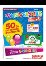 Prospectus Simply Market : L' anniversaire