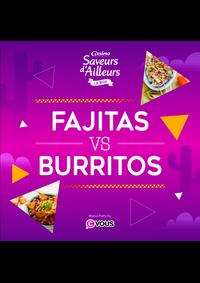Prospectus Supermarchés Casino PARIS 26 bis et 28 Place de la Nation : Fajitas VS Burritos