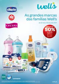 Folhetos Well's Saúde e Ótica Mozelos : As grandes marcas das famílias Well's