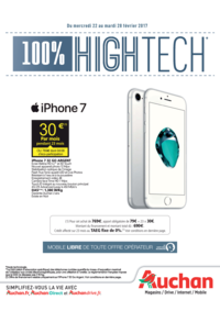 Prospectus Auchan Vélizy : 100% High Tech