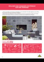 Promos et remises  : Réaliser une cheminée d'extérieur sur une terrasse