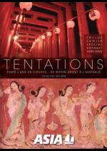 Catalogues et collections  : Tentations - Toute l'Asie en circuits 2017-2018