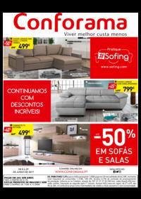 Folhetos Conforama Amadora - Alfragide : Até -50% em sofás e salas