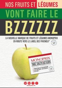 Journaux et magazines Monoprix LE VESINET : Nos fruits et légumes vont faire le BZZZZZZ