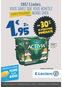 Prospectus E.Leclerc ORLY : Chez E.Leclerc, vous savez que achetez directement moins cher