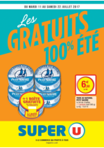 Prospectus Super U : Les gratuits 100% été