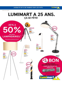 Prospectus Lumimart Ittigen : Luminaire a 25 ans. Ça se fête !