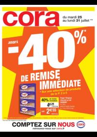 Prospectus Cora MASSY : Jusqu'à -40% de remise immédiate