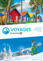 Catalogues et collections E.Leclerc voyages : La brochure automne hiver 2017-2018