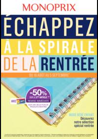 Prospectus Monoprix PARIS 71 rue Saint Antoine : Échappez à la spirale de la rentrée