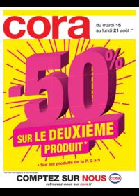 Prospectus Cora MASSY : -50% sur le deuxième produit