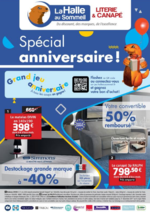 Prospectus La Halle au Canapé : Spécial anniversaire !