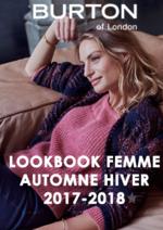 Catalogues et collections Burton : Lookbook femme automne hiver 2017-2018
