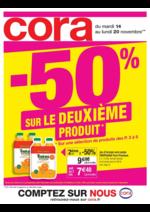Prospectus Cora : -50% sur le deuxième produit