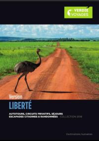 Catalogues et collections Verdié Voyages Montauban : Brochure Version Liberté