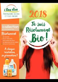 Prospectus L'Eau Vive BESANÇON  : En 2018 je suis résolument bio
