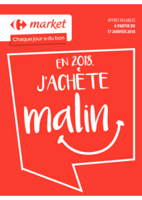 Prospectus Carrefour Market FLORENVILLE : En 2018 j'achète malin