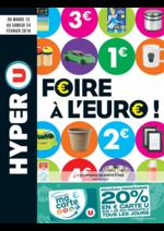 Prospectus Hyper U : Foire à l'€uro !