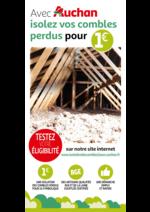Prospectus Auchan : Avec Auchan isolez vos combles perdus pour 1€