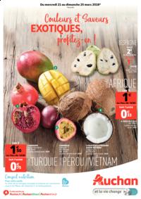 Prospectus Auchan Plaisir : Couleurs et saveurs exotiques, profitez-en !