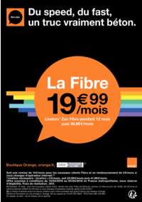 Prospectus Boutique Orange PARIS 14 : Du speed, du fast, un truc vraiment béton