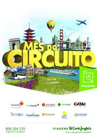 Folhetos Viagens El Corte Inglés Braga SuperCor : Mês do circuito