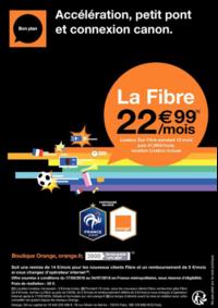 Prospectus Boutique Orange PARIS 2 : La fibre à 22.99€ par mois