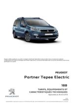 Catalogues et collections Peugeot : Peugeot Partner Tepee Electric