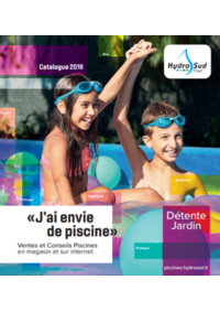 Catalogues et collections Hydrosud MONTAUBAN : Catalogue 2018