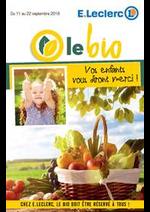 Prospectus E.Leclerc : LE BIO VOS ENFANTS VOUS DIRONT MERCI!