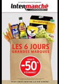 Prospectus Intermarché Contact : LES 6 JOURS GRANDES MARQUES