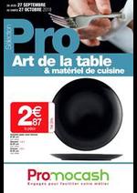 Promos et remises  : Sélection Pro Art de la table et matériel de cuisine du 27 septembre au 27 octobre 2018