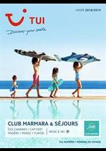 Promos et remises  : Club Marmara & Séjours Hiver 2018/2019