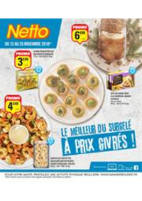 Prospectus Netto Dampierre-les-Bois : Le meilleur du surgelé à prix givrés!