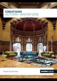 Prospectus Roche Bobois Strasbourg - Lampertheim : Creations Autumn Winter 2018