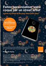 Prospectus Orange : Faites personnaliser votre coque par un street artist