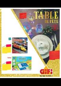 Prospectus Gifi LONGPONT SUR ORGE : Table de fête