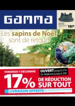 Prospectus GAMMA : Les Sapins de Noel
